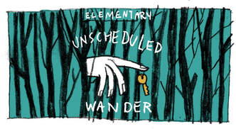 Original sketch of Unscheduled Wander Label by Leslie Herman