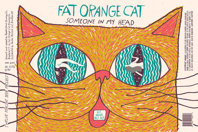 Leslie Herman Fat Orange Cat